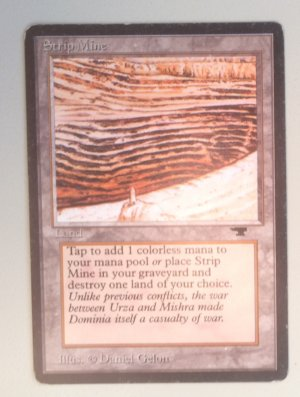 Magic MTG Antiquities Strip Mine (small tower) front