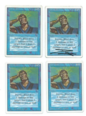 Magic MTG Unlimited Psionic Blast front