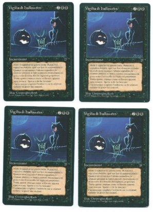 4x FBB All Hallows Eve Vigilia di Halloween Legends Italian front