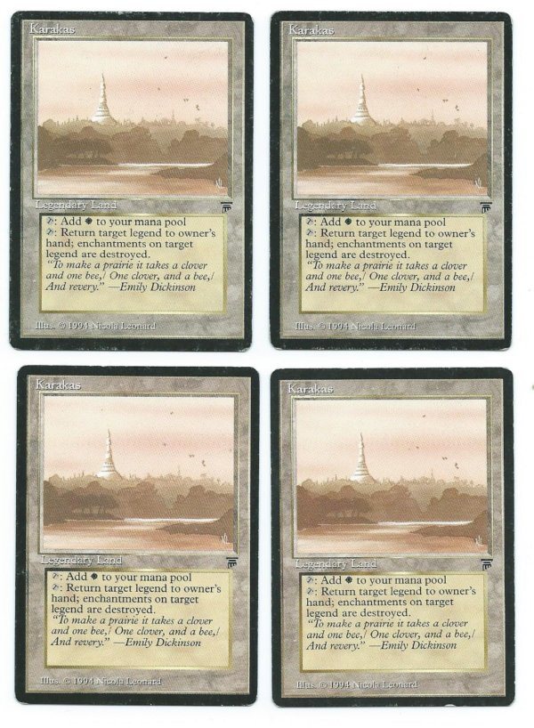 4x Karakas Legends front