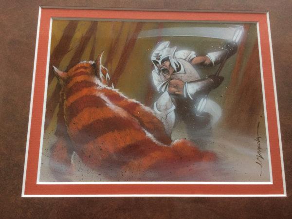 Pious Warrior original artwork
