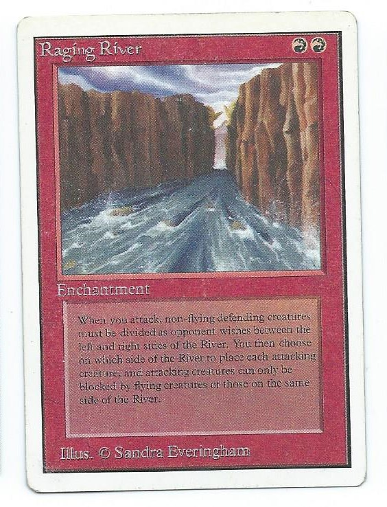 Magic MTG Unlimited Raging River front