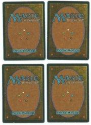 Magic MTG 4x Erhnam Djinn FBB Italian Renaissance Playset Cards www_MoxBeta_com back