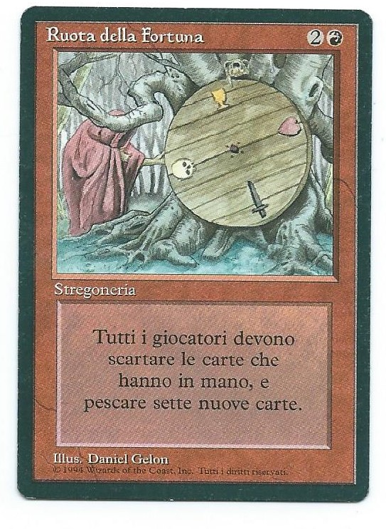 Magic MTG Wheel of Fortune FBB Italian front