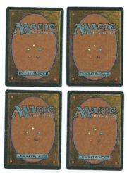 Magic MTG 4x Fastbond FBB Italian back