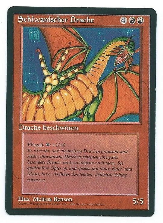 Magic MTG FBB Shivan Dragon German front