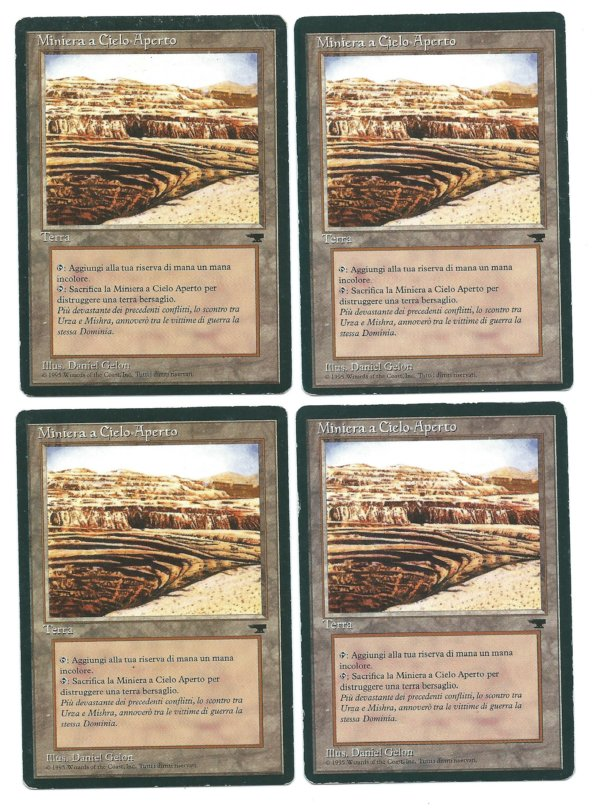 Magic MTG FBB Strip Mine Italian Renaissance front