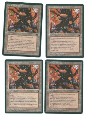 Magic MTG 4x Mishra's Factory FBB French Renaissance front