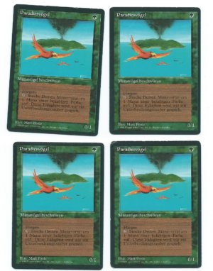 Magic MTG 4x Birds of Paradise FBB German front