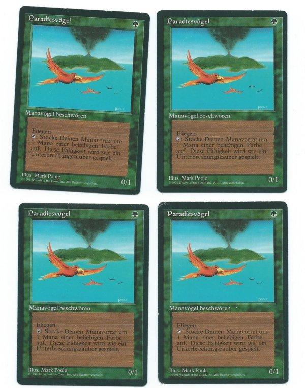 Magic MTG 4x Birds of Paradise FBB German front