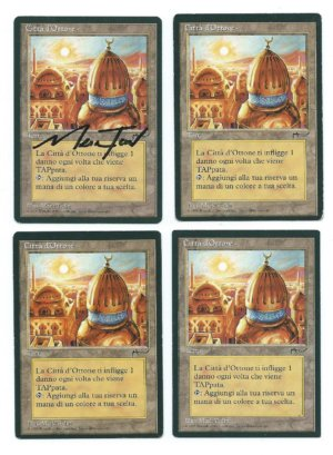 Magic MTG 4x FBB City of Brass Italian front