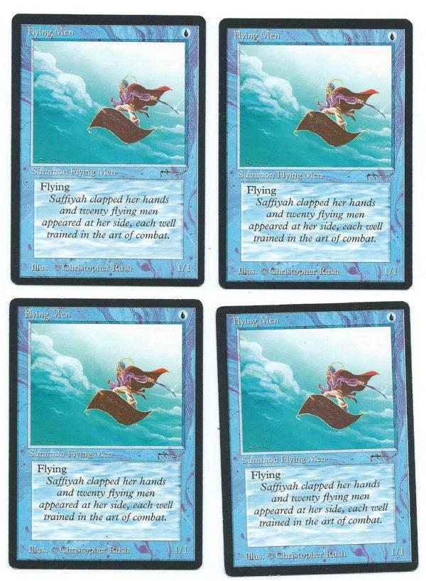 Magic MTG Arabian Nights 4x Flying Men front