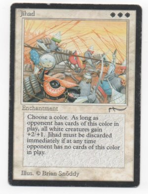 Magic MTG Arabian Nights Jihad banned card #1 (played)
