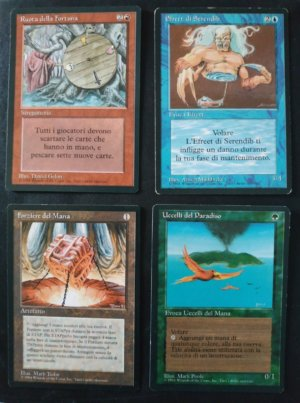 Magic MTG FBB First Edition Italian Complete set highlights front
