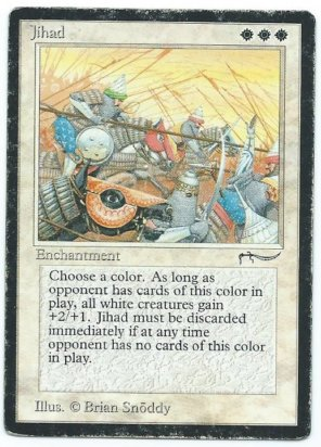 Magic MTG Jihad Arabian Nights front