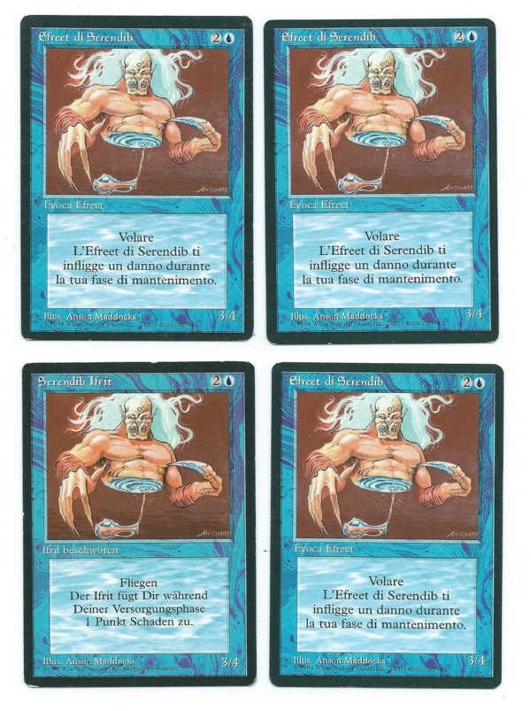 Magic MTG 4x FBB Serendib Efreet front
