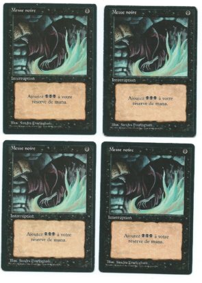 Magic MTG 4x FBB Dark Ritual French front