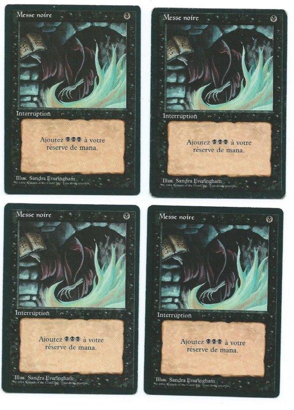 Magic MTG 4x FBB Dark Ritual French front