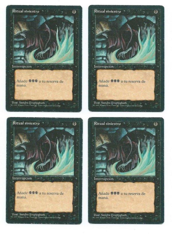 Magic MTG 4x FBB Dark Ritual Spanish front