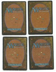 Magic MTG 4x FBB Japanese Lightning Bolt back