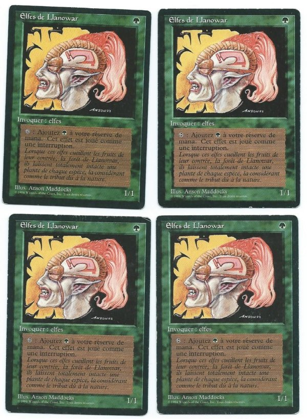 Magic MTG 4x FBB Llanowar Elves French front