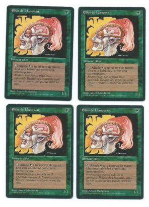 Magic MTG 4x FBB Llanowar Elves Spanish front