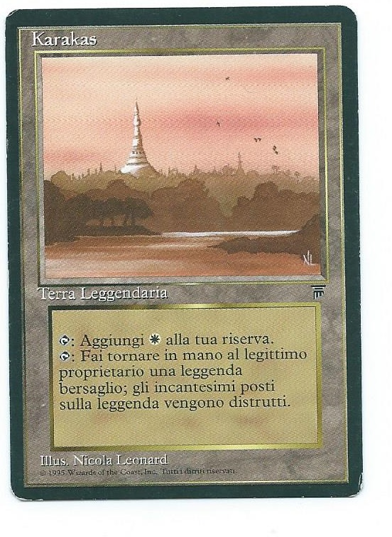 Magic MTG Karakas FBB Italian Legends front