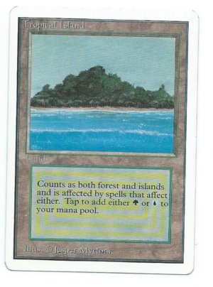 Magic MTG Unlimited Tropical Island Front