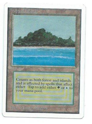 Magic MTG Unlimited Tropical Island Front