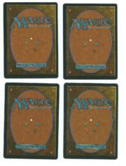Magic MTG 4x Chain Lightning FBB Italian Legends back