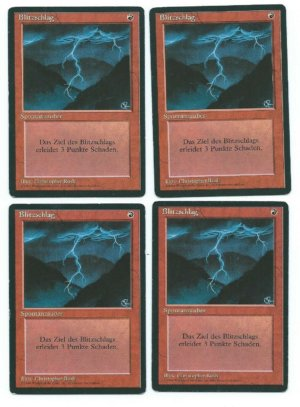 Magic MTG 4x FBB German Lightning Bolt front