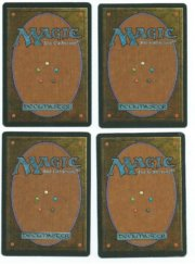 Magic MTG 4x FBB Strip Mine German back