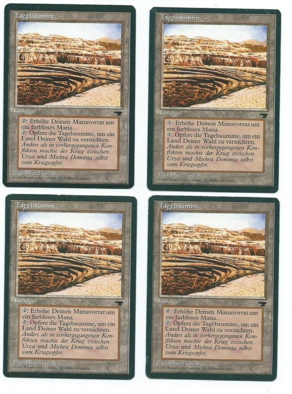 Magic MTG 4x FBB Strip Mine German front