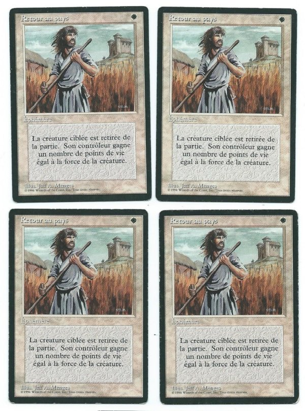 Magic MTG 4x FBB Swords to Plowshares French front