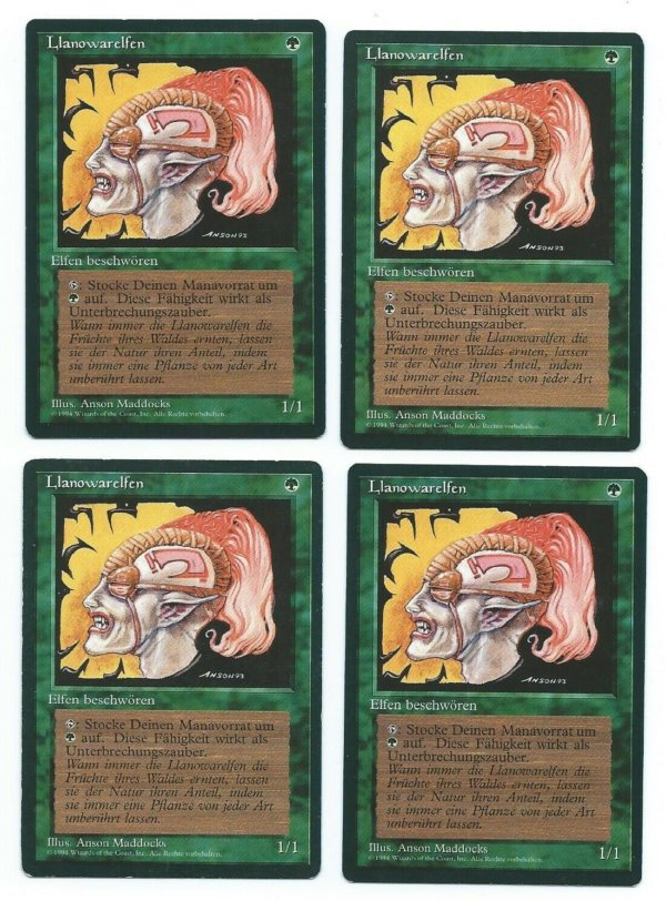 Magic MTG 4x Llanowar elves FBB German front