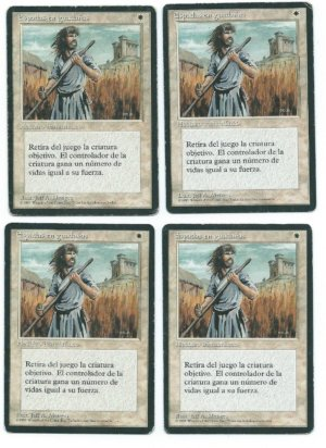Magic MTG 4x Swords to Plowshares FBB Spanish front