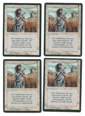 Magic MTG 4x Swords to Plowshares German FBB front