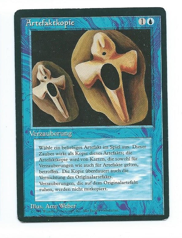 Magic MTG FBB Copy Artifact German front