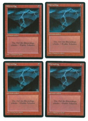 Magic MTG FBB Lightning Bolt German playset front