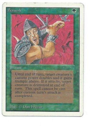 Magic MTG Unlimited Berserk front