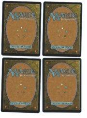 Magic MTG promo foil 4x Llanowar Elves back