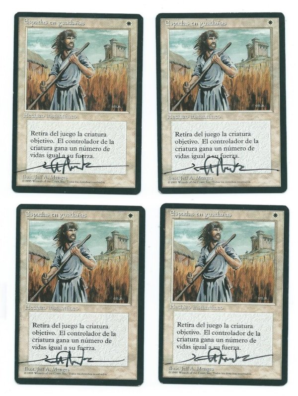 Swords to Plowshares Spanish FBB signed front
