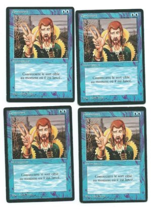Magic MTG 4x Counterspell FBB French front