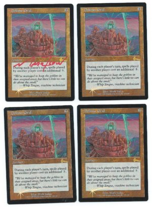 Magic MTG 4x Defense Grid Urza's Legacy foil front