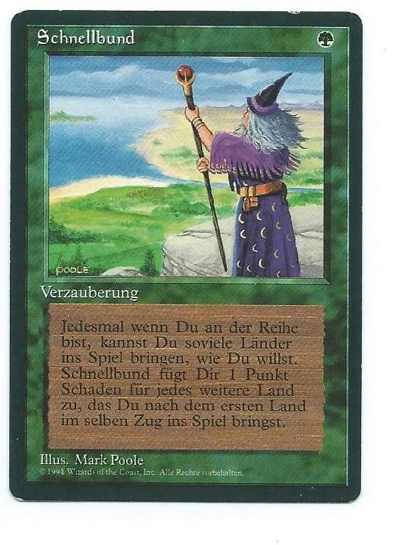 Magic MTG 4x FBB Fastbond German front
