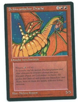Magic MTG FBB Ball Shivan Dragon German first edition front
