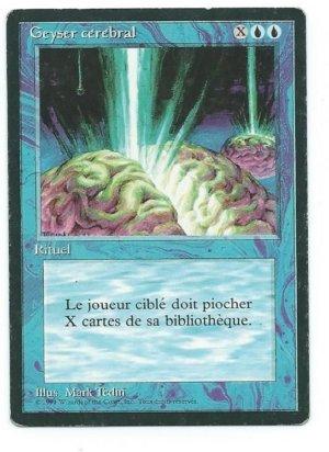 Magic MTG FBB Braingeyser French front