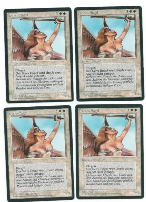 Magic MTG 4x FBB Serra Angel German front