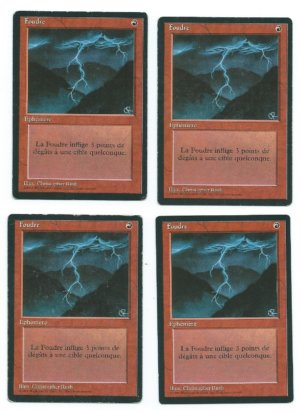 Magic MTG 4x Lightning Bolt FBB French front