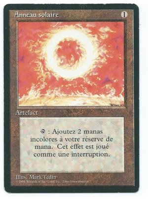 Magic MTG FBB Sol Ring French front